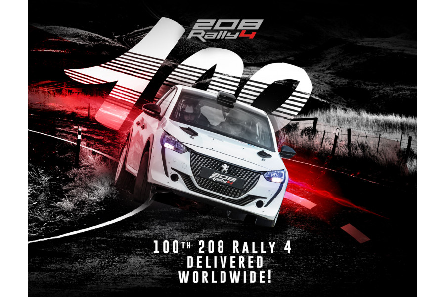 Peugeot Sport delivers the 100th Peugeot 208 Rally4
